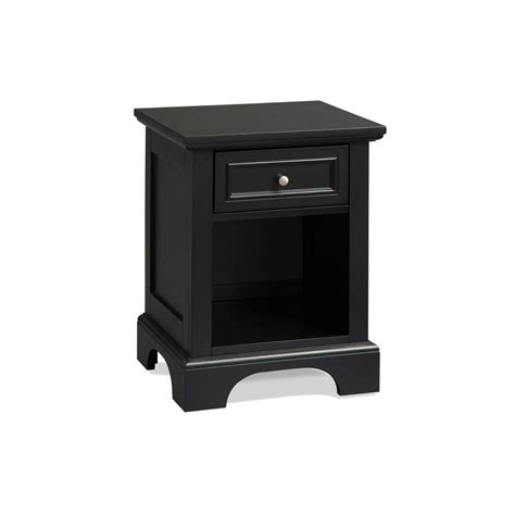 night table ls home depot home styles bedford 1 drawer black nightstand 5531 42