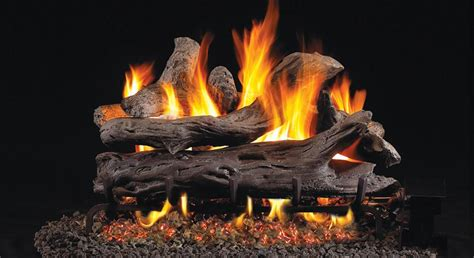 real fyre gas logs by rh peterson emberwest fireplace