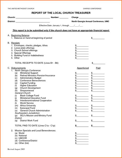 treasurer report template 10 treasurer report template sales report template