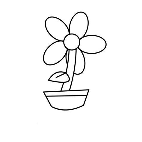 imagenes de flores sin pintar dibujos de flores en macetas para colorear