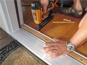 How To Replace A Threshold On An Exterior Door Replace Exterior Door Threshold Interior Exterior Doors Design Homeofficedecoration