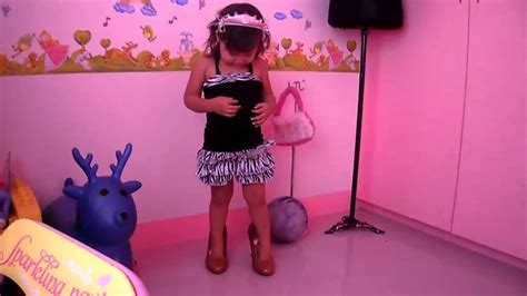 2 year baby walking with high heels