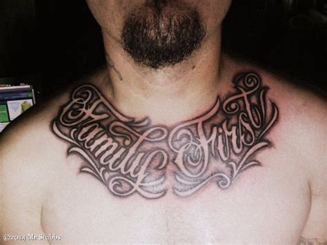 family first chest tattoo family on chest tattoos