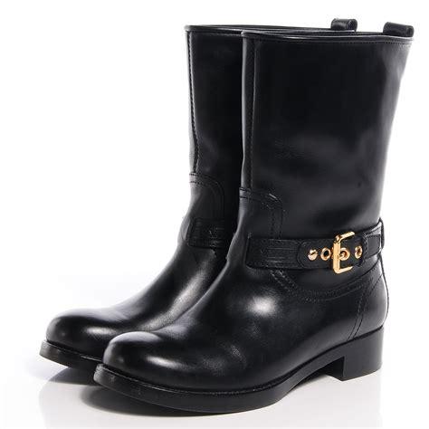 half boots for louis vuitton calf leather susan half boots 37 black 67169