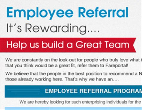 referral flyer template posters for employee referral on behance