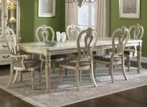 wood dining room set liberty furniture messina estates 7 piece ii 108x44 dining