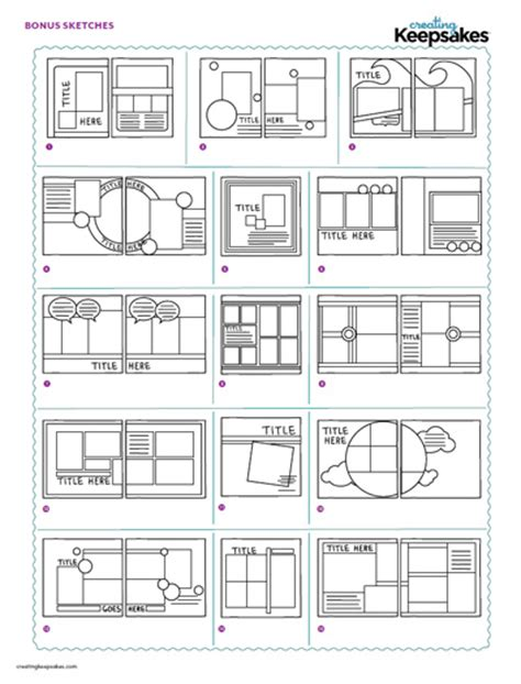 scrapbook layout templates sketches are the perfect way to start a layout
