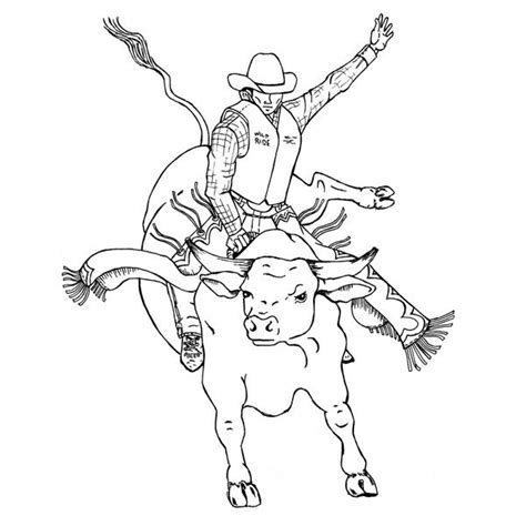 free rodeo bulls coloring pages