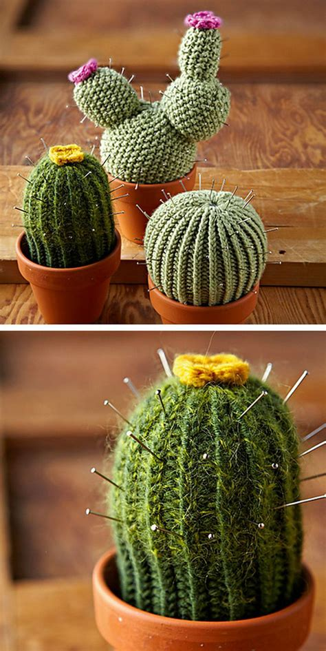 Bedroom Decorating Ideas Diy Knit Cacti Patterns