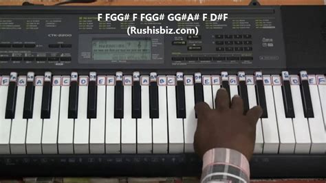 tutorial main keyboard kaththi theme main bgm piano tutorials youtube