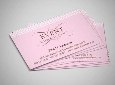 event management business card template wedding event planner business card templates