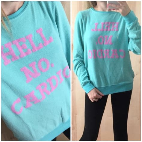 Sweater Fab 39 000 60 wildfox sweaters nwt wildfox quot hell no cardio