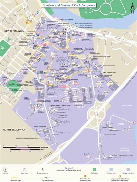 Printable Maps Rutgers | douglass and george h cook cus map rutgers visitor guide