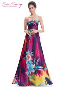 colorful dress summer style evening dresses ep09603 pretty strapless