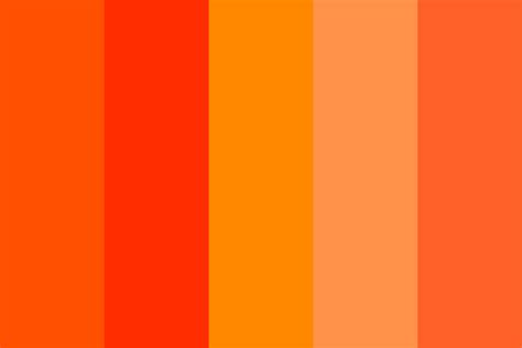 orange color schemes orange a dot color palette