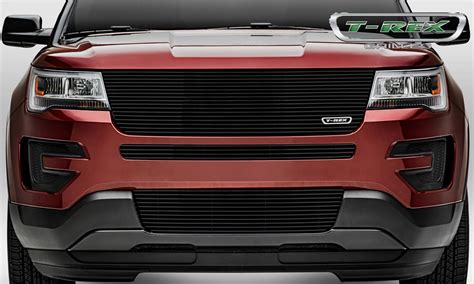 Grill Ford Laser ford explorer laser billet series replacement grille w o logo recess black powder