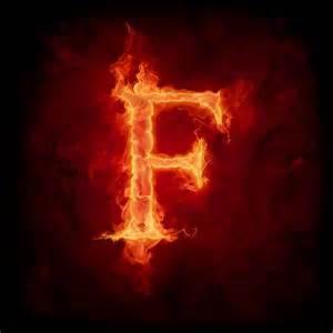estores fuego y llamas letra f en llamas
