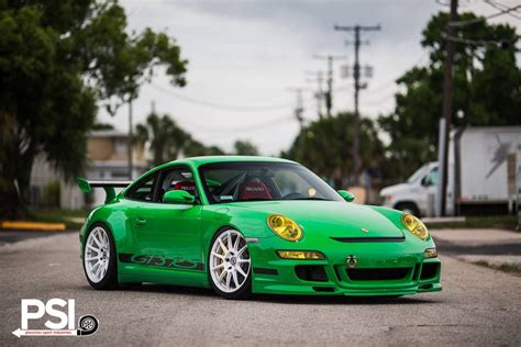 porsche 911 gt3 rs green green porsche 911 gt3 rs rides on white hre wheels gtspirit