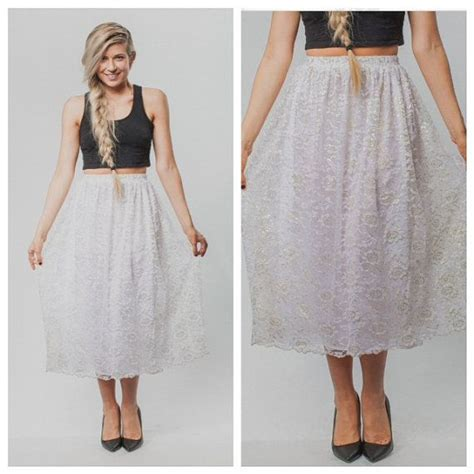 vintage skirt lace skirt vintage lace skirt white