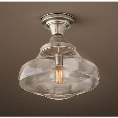 Parisian Architectural Clear Glass Brasserie Flushmount Restoration Hardware Flush Mount Ceiling Light