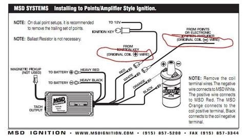 car wiring msd 6al to hei wiring diagram chevy for