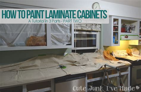 cute junk i ve made how to paint laminate cabinets part