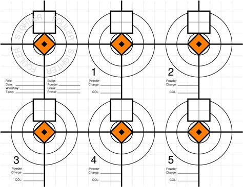 printable load development targets ocw official test target practical riflery and ocw forums