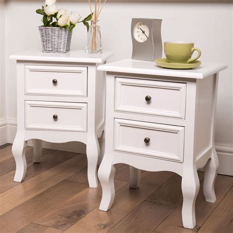 Already Assembled Kitchen Cabinets by Fully Assembled Bedside Tables In White Home Treats Uk