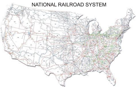 railway map of usa us railroads american railroads