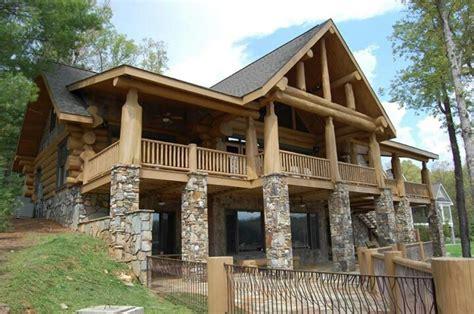 stone  wood house dream house plans pinterest