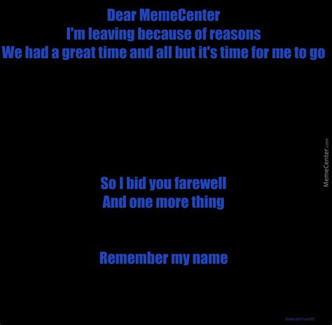 Remember The Name Meme - remember my name by ducemon meme center