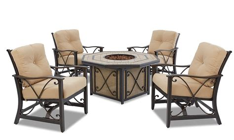 patio set with pit table solaris 6 pc patio dining set with outdoor pit table