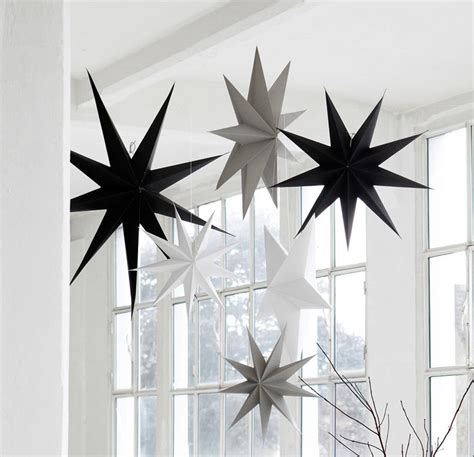 hanging paper star decoration by idyll home