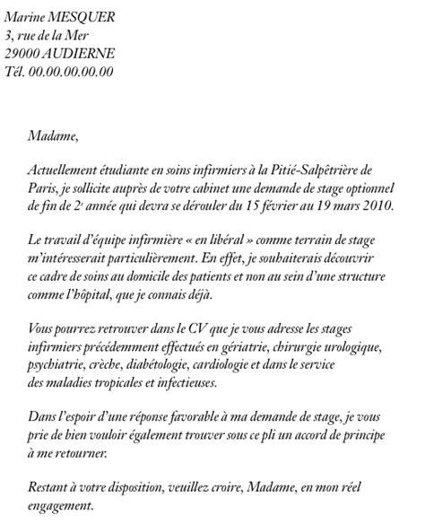 Pr Sentation Lettre De Demande D Emploi lettre demande d emploi infirmiere employment application