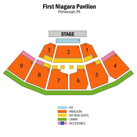 niagara center detailed seating chart pittsburgh seating charts ticket victory
