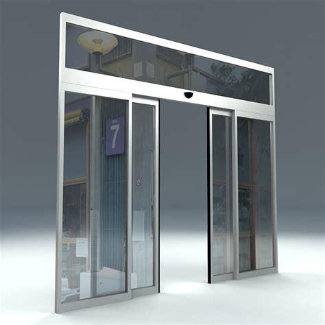automatic door free door sliding automatic 3d model