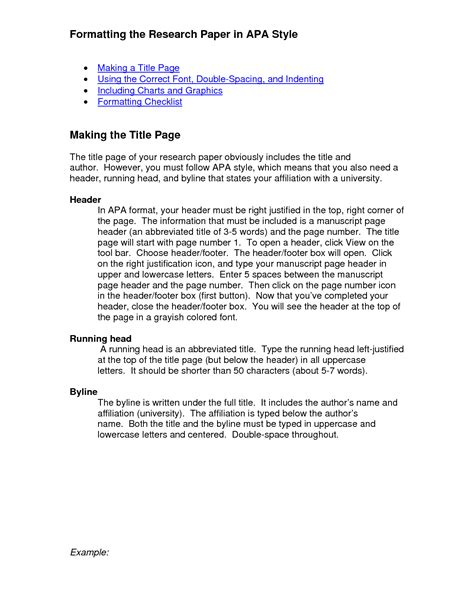 apa format research paper exle 2011 best photos of apa style research paper research paper