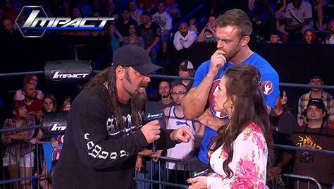 in video mickie james taryn terrell talk ladder match diva dirt tna impact wrestling review taryn terrell vs awesome
