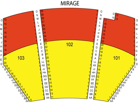 terry fator theatre at the mirage seating chart ticket
