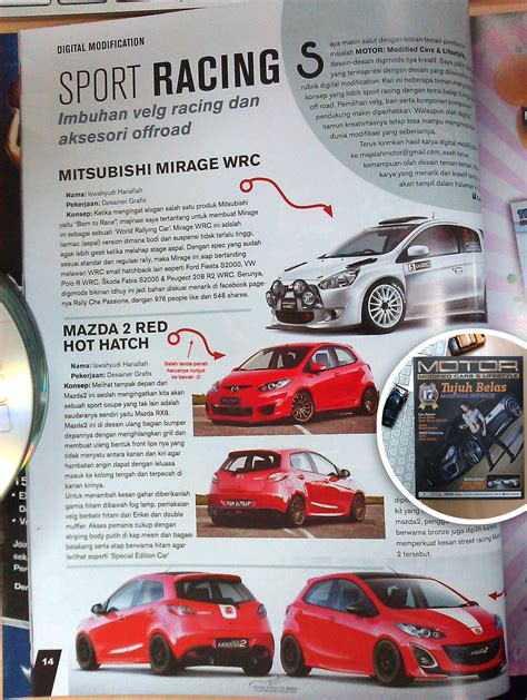 Majalah Modifikasi Motor by Modifikasi Mirage And Mazda2 Di Majalah Motor By Idhuy On