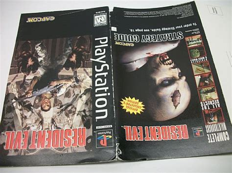 Long Box Resident Evil Playstation 1 Instruction Manual Only