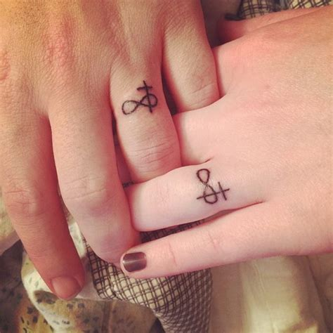 Wedding Tattoos by 40 Sweet Meaningful Wedding Ring Tattoos