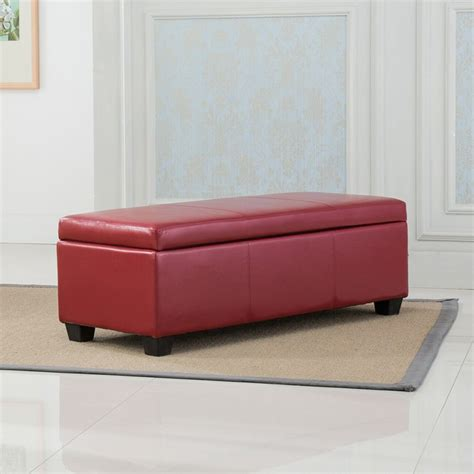 48 x 48 leather ottoman 48 quot inch deluxe bedroom rectangular faux leather storage