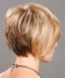 images of layered haircuts from the back short fine hair bob back view