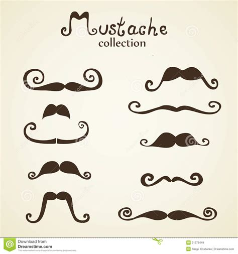 moustache stock images royalty free images vectors mustaches set stock vector image of symbol 31573449