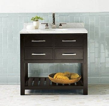 Hutton Vanity Espresso Marble Top Other And Transitional Bathroom On