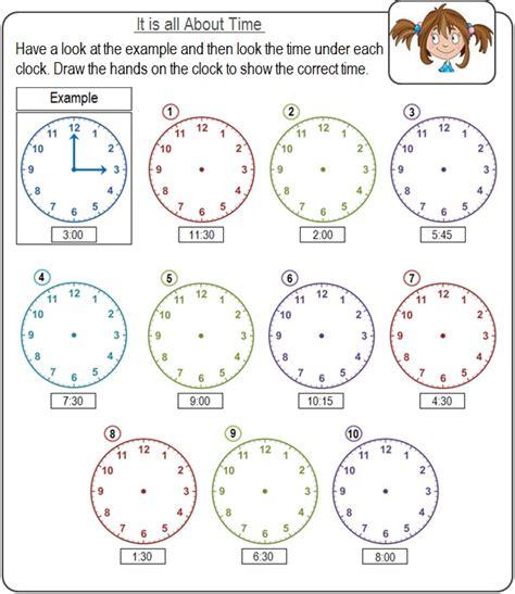 Kid Worksheets by Time Worksheets For Edu Resource