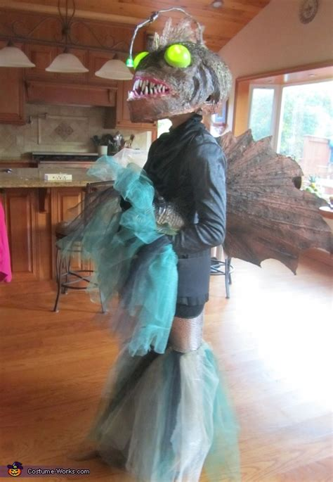 diy angler fish costume photo