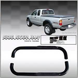 Toyota Tacoma Nerf Bars Toyota Tacoma 2 Door Black Side Bars Nerf Bars