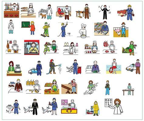 imagenes de profesiones en ingles y español las profesiones ele vocabulario pinterest